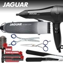 COMBO JAGUAR: Secador + Plancha + Maquina de Corte + Tijera de Pulir + Tijera de Corte + Cepillo y Peines DE REGALO!!