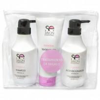 Pack Keratina Salon Essential Uso Profesioanal: Shampoo + Acondicionador + Tratamiento de Regalo