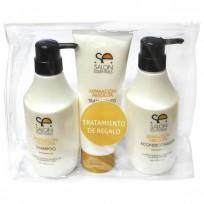 Pack Reparación Absoluta Salon Essentials Uso Profesioanal: Shampoo + Acondicionador + Tratamiento de Regalo