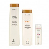 Shampoo x250ml + Acondicionador x200 + Tratamiento x150ml Kin Linea Española