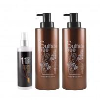 Shampoo Sulfate Free x1000ml + Acondicionador Sulfate Free x1000ml + Spray 11 in one Morocco