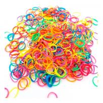 Gomitas de Colores x 100 unid. Para Trenzas
