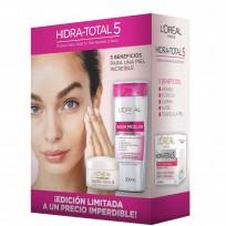 Pack Agua Micelar + Crema Facial HIdra Total 5 Loreal Paris