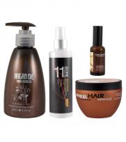 Spray x250 11 in one Argan Oil +  Mascara x250 Argan Oil +  Aceite x50 Argan Oil + Crema Peinar x280 ArganOil Morocco