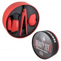 Beauty Set Teknikpro: Secador Plegable + Plancha de Pelo + Capillo Desenredante