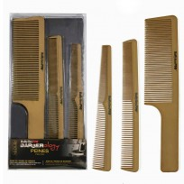Set de 3 Peines Edicion Limitada Gold Barberology