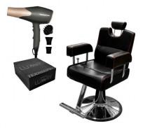 Combo Sillon Barber Sport + Secador De Pelo Profesional